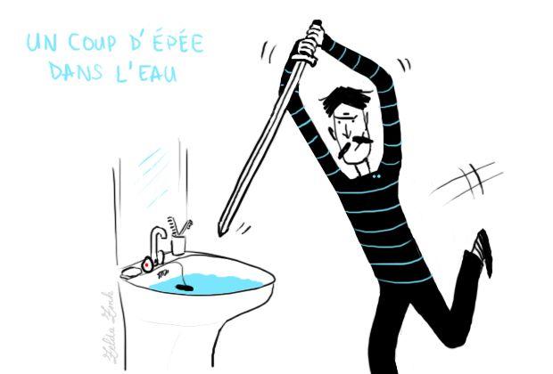 Un coup d'épée dans l'eau : un acte inutile, sans effet | Photo: Zelda Zonk @ TV5MONDE. http://www.tv5.org/TV5Site/publication/galerie-327-9-Un_coup_d_epee_dans_l_eau_un_acte_inutile_sans_effet.htm