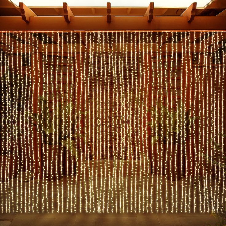 LED Concepts Curtain Warm White 300 LED String Icicle Lights (Curtain Lights, Warm White) (Plastic)