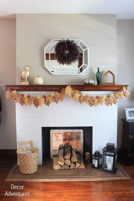 Fall Home Tour and How to Make Fall Leaves Garland