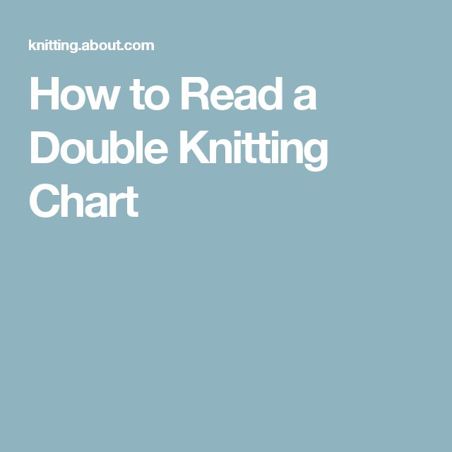 How to Read a Double Knitting Chart
