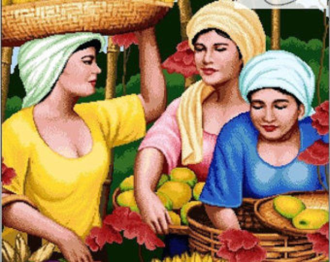 Filipino Art-Fruit Vendor Ladies - PDF Pattern | Filipino
