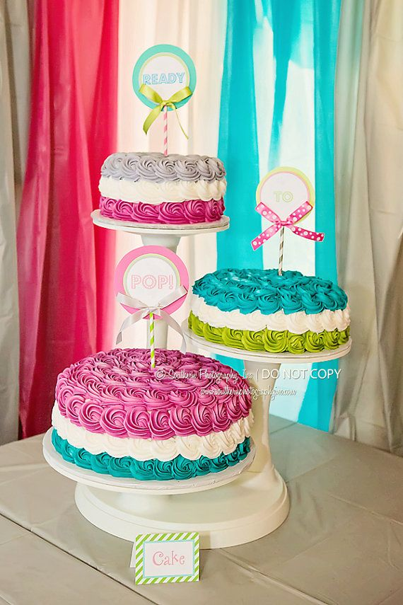 how to make a rainbow cake ready to pop baby shower centerpiece by 4967