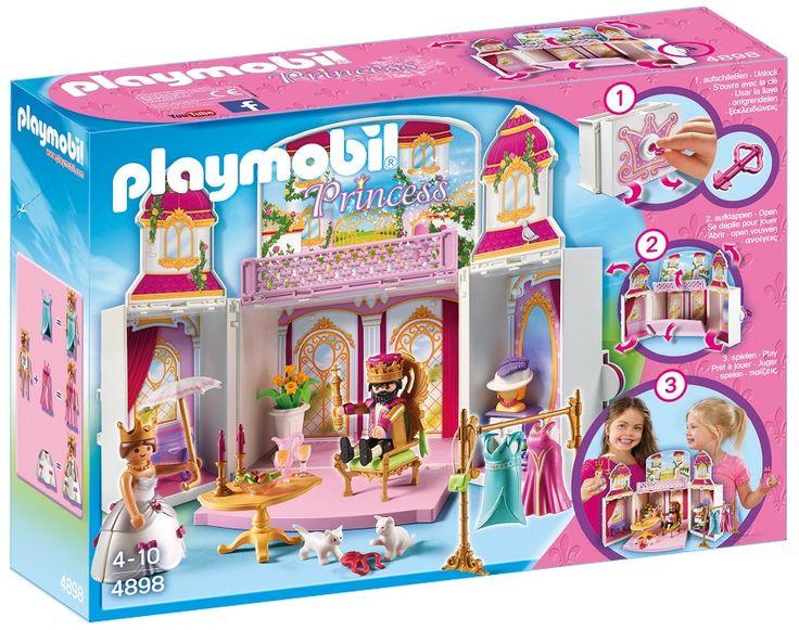 PLAYMOBILPRZENOŚNY ZAMEK KRÓLEWSKI4898NOWOŚĆZabawa produktami Playmobil wspiera dziecięcy rozwój, pobudza wyobraźnię do działania. Uczy kreatywności i zachęca do poznawania otaczającego go świata.Zestaw z serii Princess to propozycja zabawy dla małych księżniczek. Zamek Królewski to uroczy zestaw w wygodnym do przenoszenia i przechowywania kuferku zamykanym na klucz. Po otwarciu pokazuje się nam wspaniała sceneria zamku. Kuferek posiada wygodną rączkę do przenoszenia. Możesz go zabrać, gdzie…