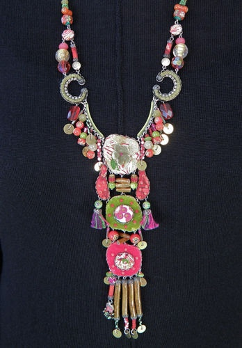 Ayala Bar Gorgeous Long and Colorful Handcrafted Necklace | eBay