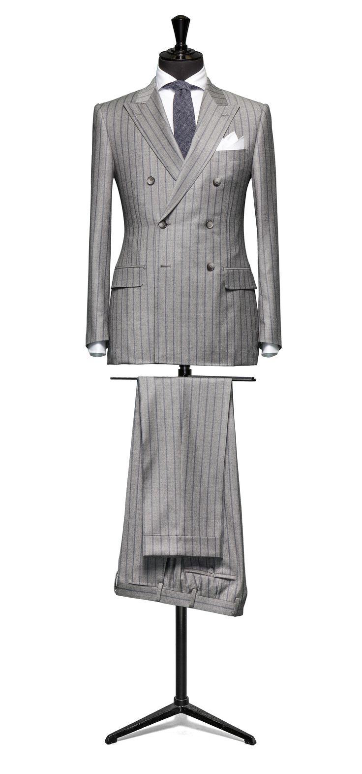 Grey suit Stripe blue http://www.tailormadelondon.com/shop/tailored-suit-fabric-4308-stripe-grey/