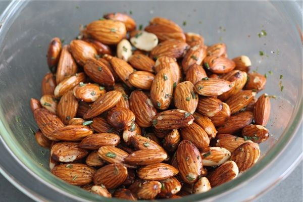 Rosemary Roasted Almonds | Two Peas & Their Pod