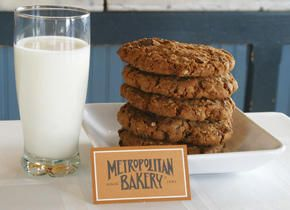 Oatmeal cookies with a touch of whole wheat and granola.