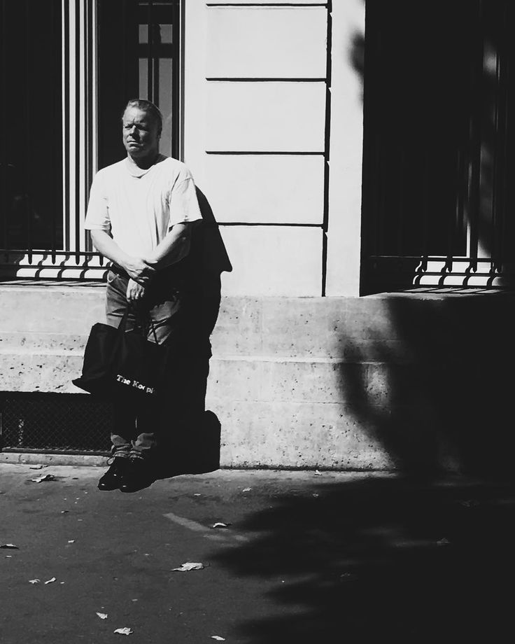 He might be praying he might not be. #bw #paris #street #contrast