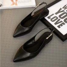 2016 Yeni Moda Hakiki Deri Bahar Yaz Kadın Ayakkabı Büyük Boy Custom Made Bayanlar Düz Sivri-toe Sandalet(China (Mainland))