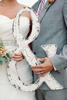 Love this vintage ampersand—perfect wedding photo prop.