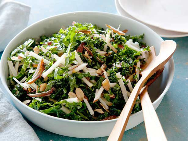 Kale and Apple Salad Recipe : Food Network Kitchens : Food Network. I'll try it without the cheese and add a little chicken. Yum yum :)