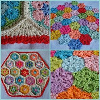 crochet hexagon edges