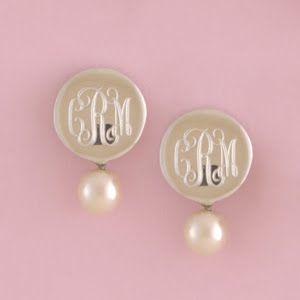 Monogrammed pearls. Love!