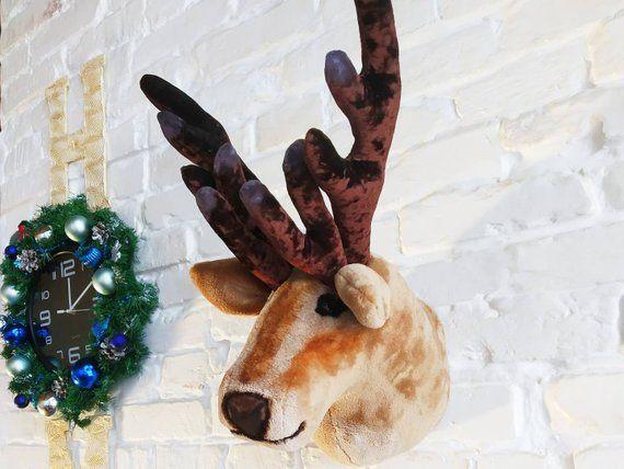 Faux Animal Head Deer