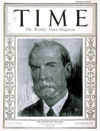 TIME Magazine Cover: Charles Evans Hughes - Dec. 29, 1924 - Supreme Court - Law