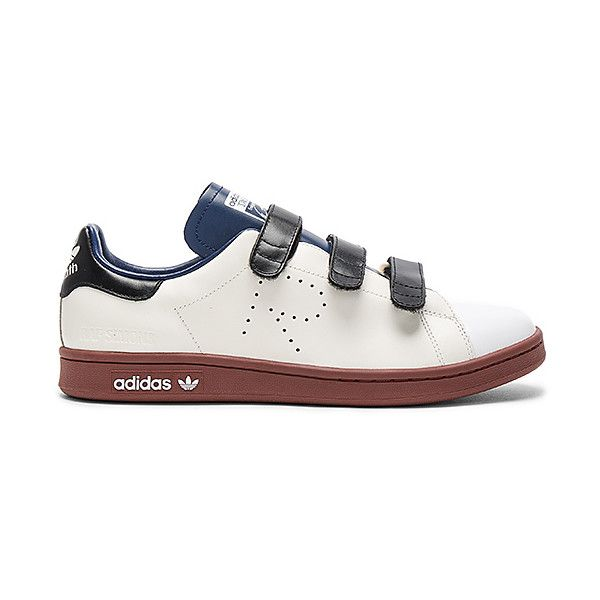 adidas by Raf Simons RS Stan Smith CF (1.380 BRL) ❤ liked on Polyvore featuring men's fashion, men's shoes, men's sneakers, sneakers, mens velcro shoes, mens velcro strap sneakers, mens velcro sneakers, adidas mens sneakers and adidas mens shoes