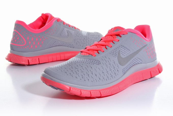 Nike free run 4.0 gray \u0026amp; coral!