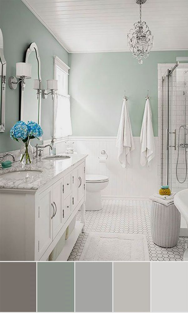 The Bathroom Is A Space In Which We Find Calm And Peace At The End Of A Long Day Soothing Our Ne Bathroom Color Schemes Budget Bathroom Remodel Bathroom Color