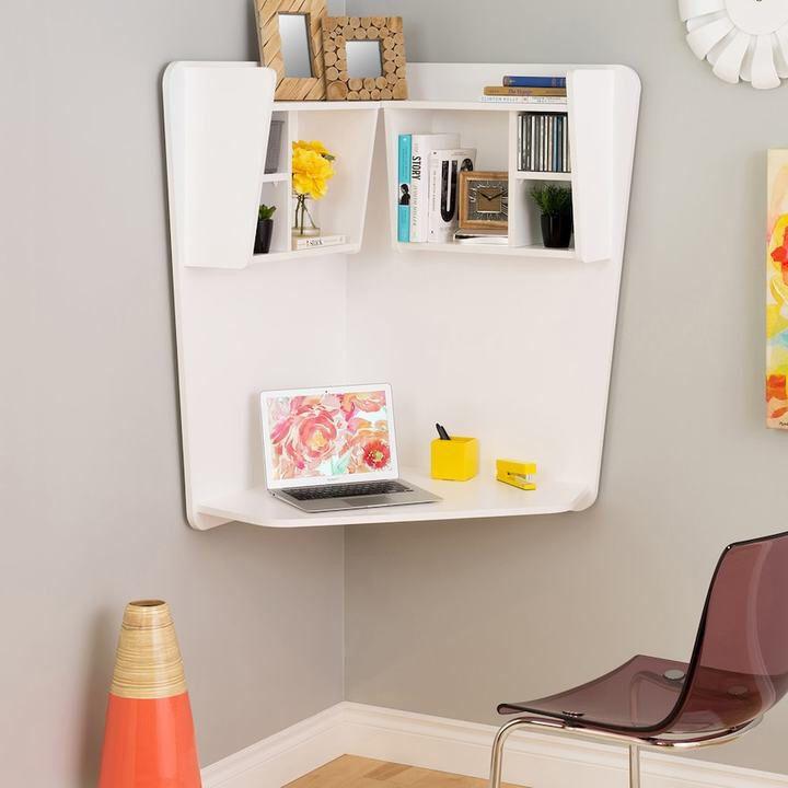 Eckschreibtisch holz  Die besten 25+ Floating corner desk Ideen auf Pinterest ...