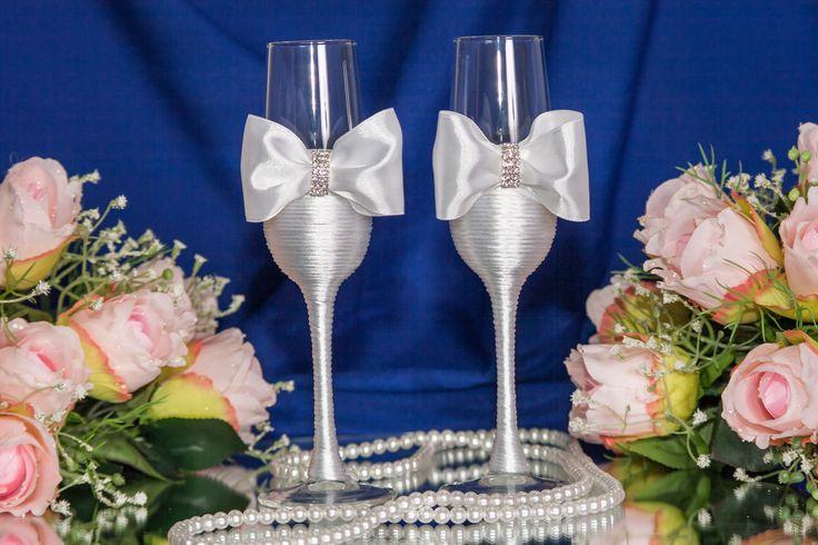Свадебные бокалы для ценителей изящного.