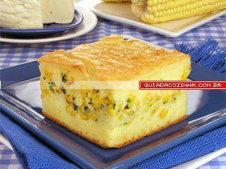 Receita de Torta de milho e queijo fresco