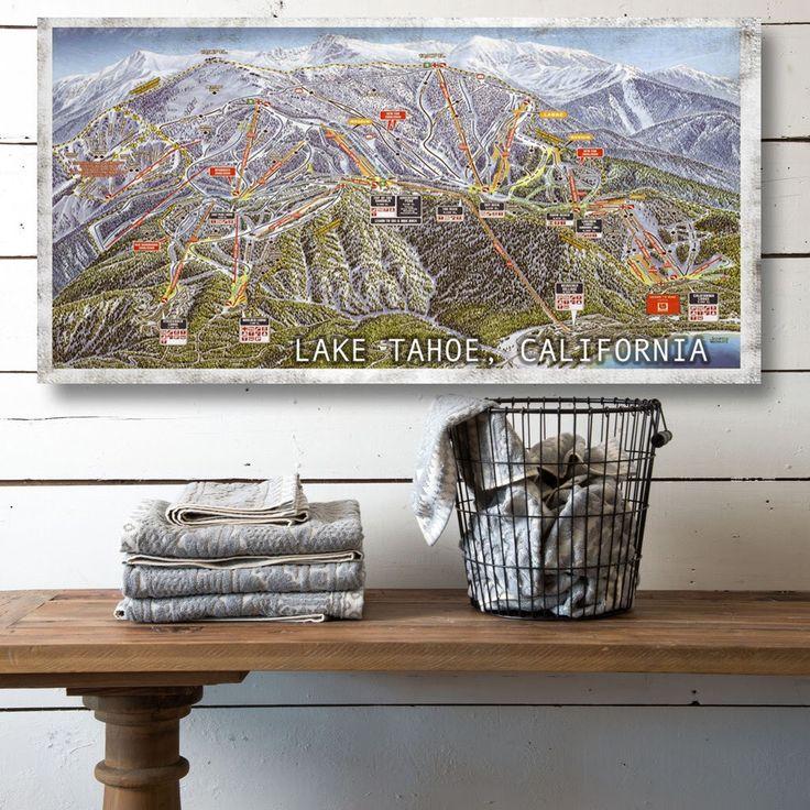 Heavenly at Lake Tahoe Ski Resort on Canvas, Vintage Ski Resort Canvas Sign, Canvas Home Decor, Canvas Wall Art, Canvas Wall Decor by PrintedonCanvas on Etsy https://www.etsy.com/listing/513644257/heavenly-at-lake-tahoe-ski-resort-on