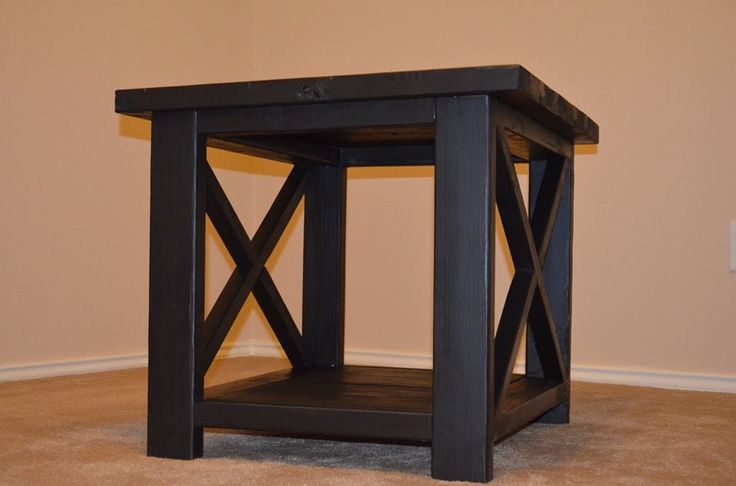 DIY sofa end table