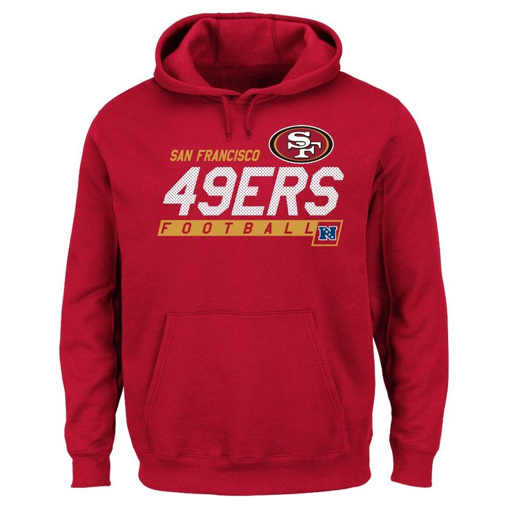 San Francisco 49ers Men's Big & Tall Team Pride Fleece Pullover Hoodie Sweatshirt - 2XL Tall