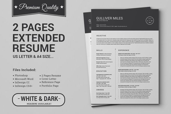 Pin by MONSTERLELE Studio on Design Templates \ Elements - Eye Catching Resume
