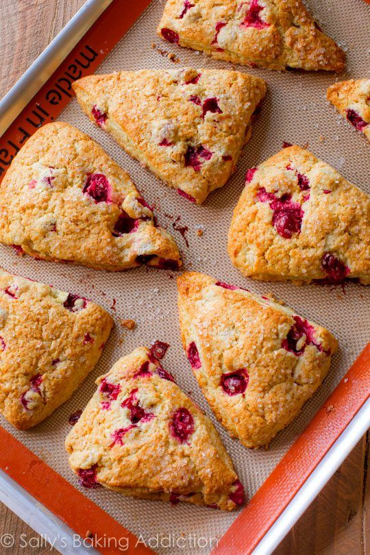 Crumbly edges, bursts of orange flavor, orange glaze, and lots of cranberries make these scones better than any I've tried!