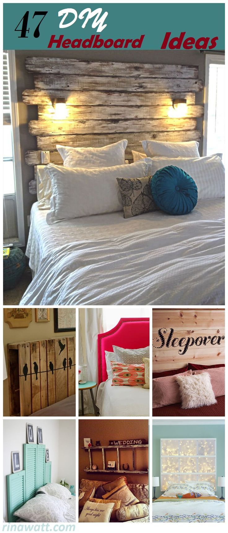 Feeling Creative Try Any One Of These Amazing 47 Unique Headboard Ideas 1 Rus Headboard Diy Easy Simple Headboard Rustic Headboard Diy