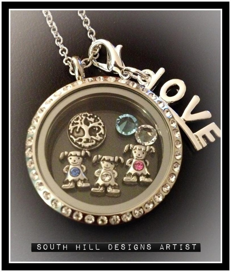 Now you can tell your story with a personalized locket and Wear What You LOVE!! Contact me for more details and lets design one together! www.southhilldesigns.com/rebeccawright Artist #388755