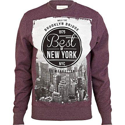 Red best of New York print sweatshirt - sweatshirts - hoodies / sweatshirts  - men