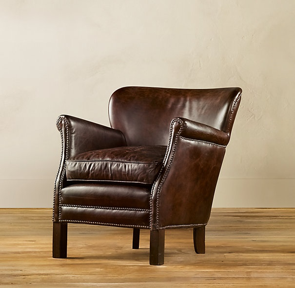 Professor S Leather Chair From Restoration Hardware On