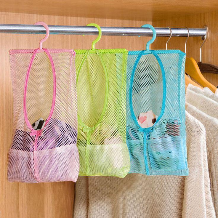 multi fonction space saving suspendus sacs en filet v tements organisateur pour chambre etc 265. Black Bedroom Furniture Sets. Home Design Ideas