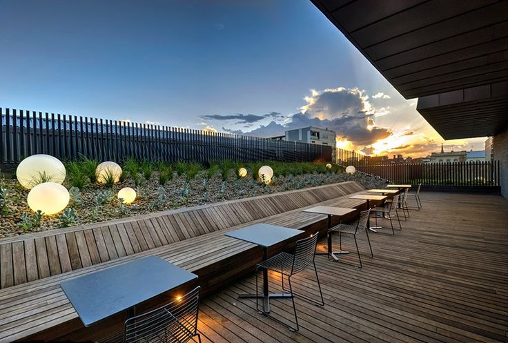 Tract Consultants design series of landscapes for residents #landscape #architecture #apartment #roof #melbourne #australia