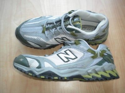 New Balance ~ All Terrain This is a great pair of ladies All Terrain New Balance sneakers, size 8 and in gently used condition! An entry level trail shoe with an aggressive design, the New Balance Wo
