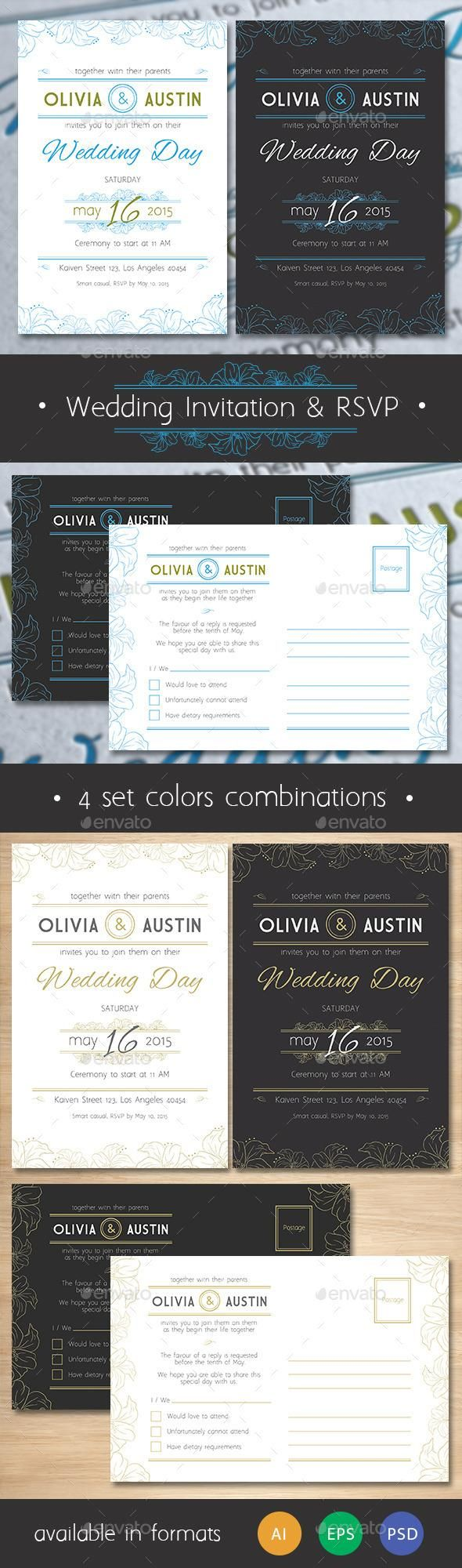 free wedding invitation psd%0A Vintage Wedding Invitation  u     RSVP