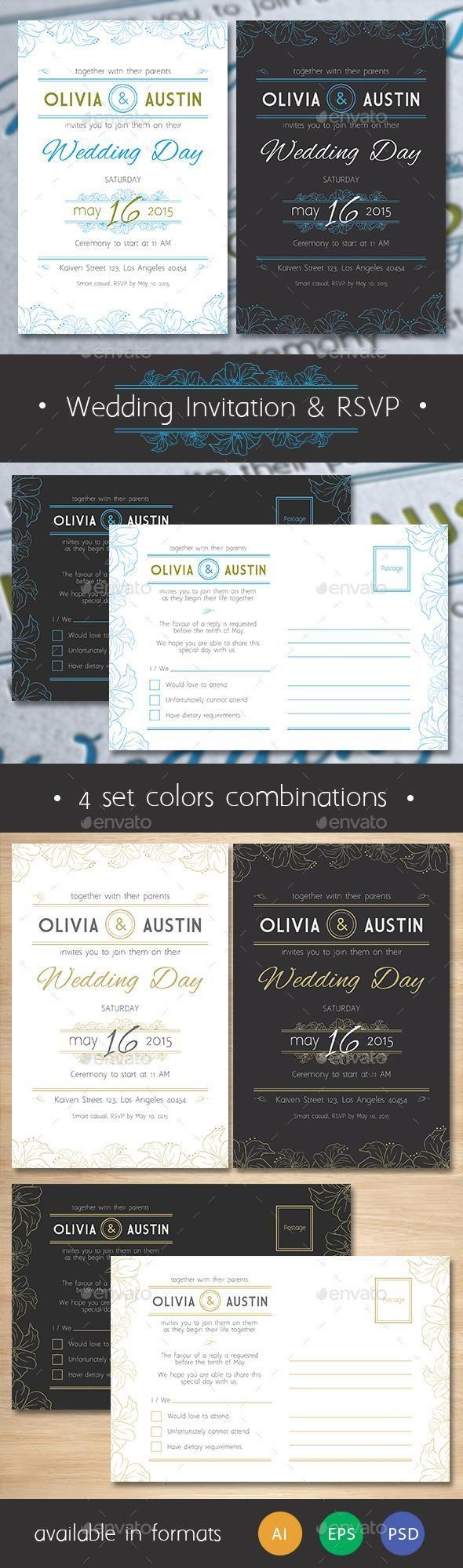 wedding invitation templates for muslim%0A Vintage Wedding Invitation  u     RSVP