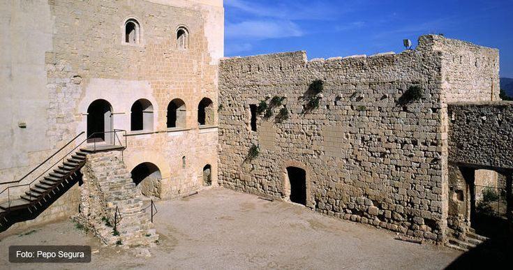 CASTLES OF SPAIN - Miravet Castle, Tarragona. Built on an excellent vantage point, the castle is one of the best examples of the architecture of the Order of the Templars in Europe. After its conquest in 1153, it became the property of the Christians and Ramon Berenguer IV gave it to Pere de Rovira, master of the Knights Templar in Hispania and Provence, who reconstructed the castle transforming it into one of the main centres of Christian power on the Iberian Peninsula.