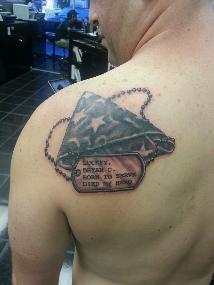 Military memorial tattoo, dog tags tattoo, soldier ...