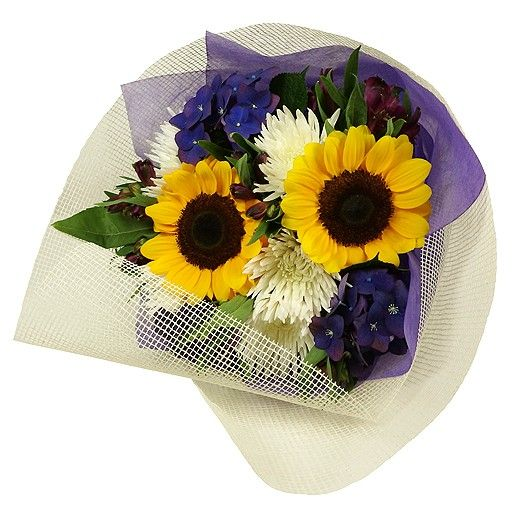 In the Sunshine Bouquet Wrapped - Bestow Gifts Auckland