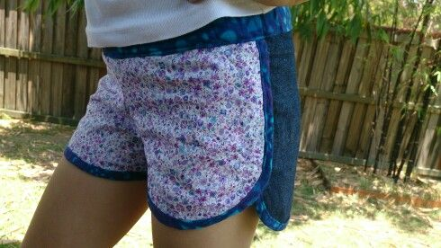 Ivy shorts. Cute front fabric, practical on the back.