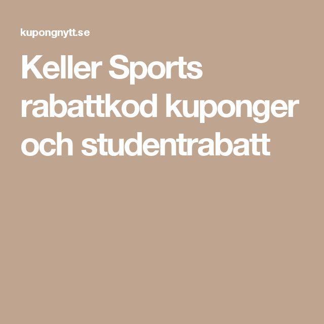 Keller Sports rabattkod kuponger och studentrabatt