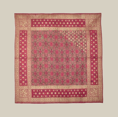 Silk Ikat Headcloth - Palembang, Sumatra, Indonesia - c. 1900