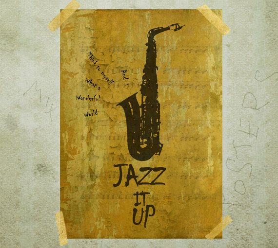 Letter J Jazz it up quote typography poster print A3 by MixPosters, $19.00