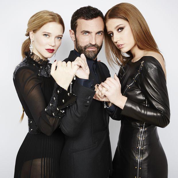 Lea Seydoux, Nicolas Ghesquiere e Adele Exarchopoulos (Foto: Divulgação)