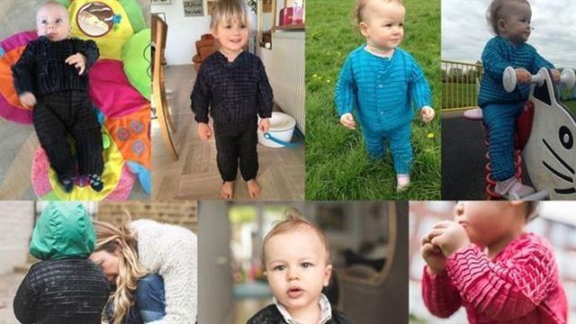 La línea de ropa que se estira y adapta al cuerpo de los niños mientras crecen- fue creada por Ryan Mario Yasin, joven diseñador de la Royal College of Art de Londres, basada en un sistema de plegado en fibras sintéticas, inspirado en el comportamiento de los paneles de fibra de carbono