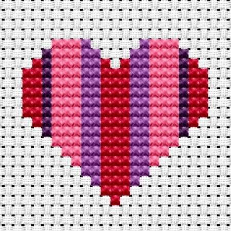 Easy Peasy Heart Cross Stitch Kit from Fat Cat Cross Stitch from £7.00