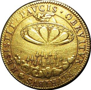 Does this mysterious 'flying saucer' French coin from the 1680s show an alien UFO visiting Earth?   Daily Mail Online